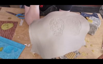 Deel 1: Decoraties op rauwe klei, talloze mogelijkheden met een lijmpistool
